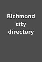Richmond city directory