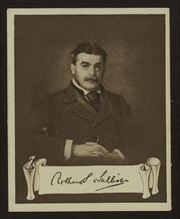 Author photo. Sir Arthur Seymour Sullivan<br> (cigarette card, courtesy of the <a href=&quot;http://digitalgallery.nypl.org/nypldigital/id?1204134&quot;>NYPL Digital Gallery</a>; image use requires permission from the New York Public Library)