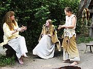 Author photo. Lydia Rood (left), Archeon, Alphen aan den Rijn, the Netherlands, 2007.  Photo by Hans Splinter / Flickr.