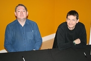 Author photo. Trevor Baxendale (right)
