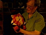 Author photo. Oliver Postgate and Bagpuss / From a Channel 4 documentary that aired in 1997, by Adrian Medcalf