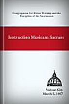 Instruction Musicam Sacram by Congregation…