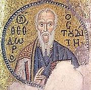 Author photo. Saint Theodore the Studite / 11th-century mosaic from Nea Moni Monastery, Chios.