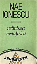 Nelinistea metafizica by Nae Ionescu