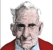 Author photo. Hendrik Groen - drawing from book