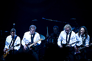 Author photo. The Eagles band from California. From left to right are: Glenn Frey, Don Henley, Joe Walsh, and Timothy B. Schmit during their Long Road out of Eden Tour in 2008. Photo by Steve Alexander