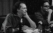 Author photo. Jack Womack at the Shirley Jackson Award Benefit at the KGB Bar on June 23, 2008.