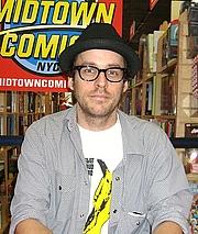 Author photo. Comic book creator Matt Fraction at Midtown Comics Times Square in Manhattan. Photo by Luigi Novi.