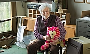 Author photo. Peter Firmin with Bagpuss in 2015.