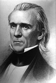 Author photo. President James K. Polk, ca. 1840's. <br>Copy of engraving by H.W. Smith <br>(Defense Visual Information Center,<br> War and Conflict CD Collection. <br>ID: HDSN9901767)