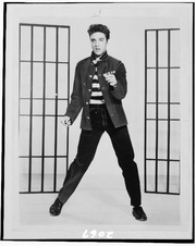 Author photo. Elvis Presely (1935-1977) 1957 photograph (Library of Congress Prints and Photographs Division. Reproduction Number: LC-USZ6-2067)