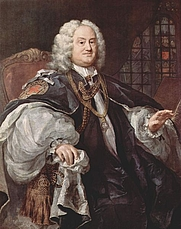 Author photo. Painting by Hogarth, ca. 1743