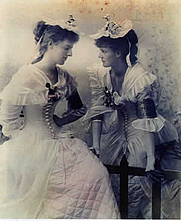 Author photo. The Gore-Booth sisters 1895: Eva on the right and Constance on the left. Wikimedia Commons.