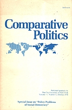 Comparative Politics ; Volume 011 ; Number…
