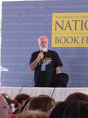 "Author photo. Terry Pratchett At the National Book Festival in Washington DC. By Andrew Kuchling - <a href=""https://www.flickr.com/photos/akuchling/1460139562/in/photostream/"" rel=""nofollow"" target=""_top"">https://www.flickr.com/photos/akuchling/1460139562/in/photostream/</a>, CC BY-SA 2.0, <a href=""https://commons.wikimedia.org/w/index.php?curid=33740483"" rel=""nofollow"" target=""_top"">https://commons.wikimedia.org/w/index.php?curid=33740483</a>"