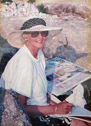 Author photo. Karen Simmons, artist
