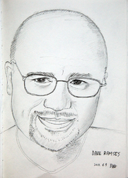 Author photo. Dave Ramsey. Illustration by Jinho Jung.