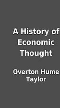 A History of Economic Thought by Overton…