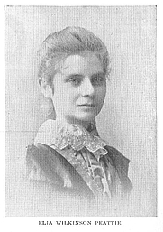 Author photo. Elia Wilkinson Peattie (b.1862), Buffalo Electrotype and Engraving Co., Buffalo, N.Y.