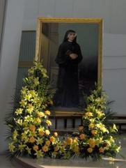 Author photo. Portrait of Faustyna Kowalska, Sanctuary of the Divine Mercy in Kraków. Image by Krzysztof Burghardt / Wikimedia Commons.