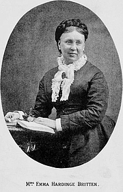 Author photo. Image from <b><i>Nineteenth century miracles, or, Spirits and their work in every country of the earth</i></b> (1884) by Emma Hardinge Britten