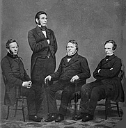 Author photo. The Harper Brothers, circa 1855-1865 <br>(Brady-Handy Photograph Collection, <br>LoC Prints and Photographs Division, <br>LC-DIG-cwpbh-02807)