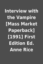 Interview with the Vampire [Mass Market…
