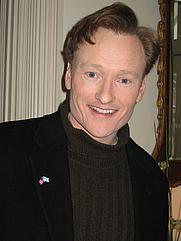 Author photo. Conan O'Brien at the U.S. Embassy, Helsinki, Finland on Feb. 14, 2006
