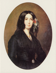 Author photo. Portrait of George Sand by Auguste Charpentier (1838)