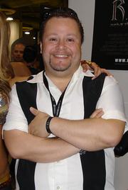 Author photo. Exhibition Hall, E3 2005, by Lampbane