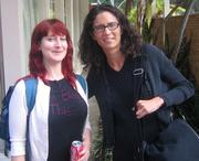 Author photo. Carolyn Kellogg and Nina Revoyr (right)<br> at 2007 LA Times Festival of Books<br>  Copyright © 2007 <a href=&quot;http://ronhogan.tumblr.com&quot;>Ron Hogan</a>