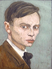 Author photo. Self-portrait of Jan Mankes, 1918 [photo from exposition in Drents Museum te Assen, 2007; credit: Gouwenaar; grabbed from Wikipedia]