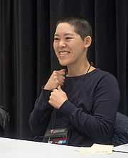 """Author photo. Jen Wang at BookExpo at the Javits Center in New York City, May 2019. By Rhododendrites - Own work, CC BY-SA 4.0, <a href=""""https://commons.wikimedia.org/w/index.php?curid=79387552"""" rel=""""nofollow"""" target=""""_top"""">https://commons.wikimedia.org/w/index.php?curid=79387552</a>"""