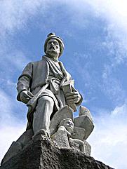 Author photo. Statue of Ferdowsi, Tehran, Iran.
