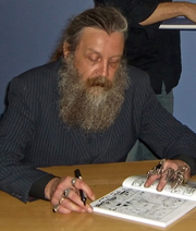 Author photo. Alan Moore photographed by Rachel Lovinger