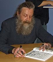 Author photo. Alan Moore photographed by Rachel Lovinger