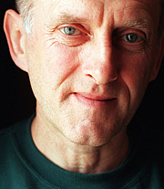 """Author photo. James Kelman, author of """"How Late it Was"""" and """"The Busconductor Hines"""". Photo by Murdo MacLeod"""