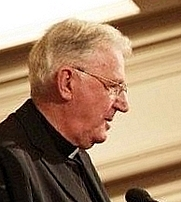 Author photo. Cardinal Murphy-O'Connor, National Poverty Hearing, Westminster, 2006.