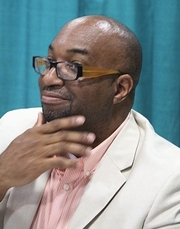 "Author photo. Alexander at the 2015 National Book Festival By User:Fourandsixty - File:Kwame Alexander - 2015 National Book Festival (3).jpg, CC BY-SA 4.0, <a href=""//commons.wikimedia.org/w/index.php?curid=66414047"" rel=""nofollow"" target=""_top"">https://commons.wikimedia.org/w/index.php?curid=66414047</a>"