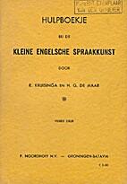 Hulpboekje bij de Kleine Engelse Spraakkunst…