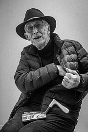 """Author photo. Jean-Thomas """"Tomi"""" Ungerer (born 28 November 1931)[1] is a French illustrator and a writer in three languages. He has published over 140 books ranging from much loved children's books to controversial adult work and from the fantastic to the autobiographical. By Claude Truong-Ngoc / Wikimedia Commons - cc-by-sa-3.0, CC BY-SA 3.0, <a href=""""//commons.wikimedia.org/w/index.php?curid=64396384"""" rel=""""nofollow"""" target=""""_top"""">https://commons.wikimedia.org/w/index.php?curid=64396384</a>"""