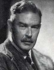 Author photo. T. R. Henn pictured on the rear justjacket flap of THE LONELY TOWER (1950)