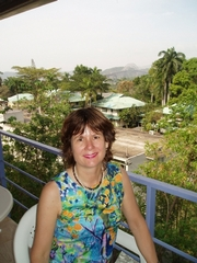 Author photo. Carolijn Visser in Panama