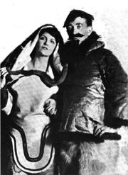 "Author photo. Walter E. Traprock and ""Snak"""