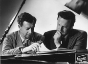 """Author photo. Britten with Peter Pears: Image © <a href=""""http://www.bildarchiv.at/"""">ÖNB/Wien</a>"""