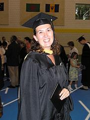 Author photo. MSW graduation August 2005