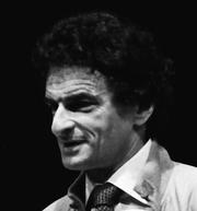 """Author photo. Jerzy Kosinski, Miami Book Fair International, 1985, by """"MDCArchives"""" (Wikimedia Commons)"""