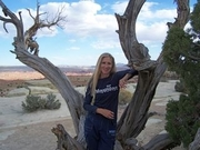 Author photo. Pam Uschuk in Northern Arizona on the Navajo Nation