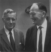 Author photo. Douglas V. Steere (right) with the Finnish sociologist Heikki Waris in the 1950s.