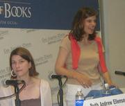 Author photo. Caitlin Flanagan (right) with Ruth Andrew Ellenson <br>at the 2007 LA Times Festival of Books <br>  Copyright © 2007 <a href=&quot;http://ronhogan.tumblr.com&quot;>Ron Hogan</a>